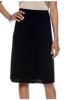 Jones New York Collection Pleated Knit Skirt