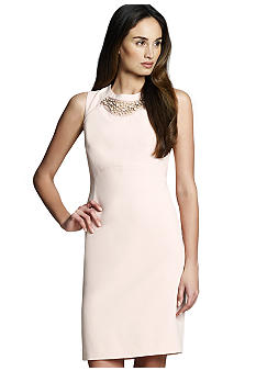 Jones New York Collection Sleeveless Dress With Beaded Neckline