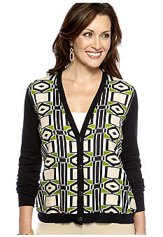 Jones New York Collection Long Sleeve V Neck Cardigan