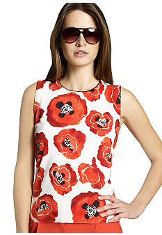 Jones New York Collection Printed Shell