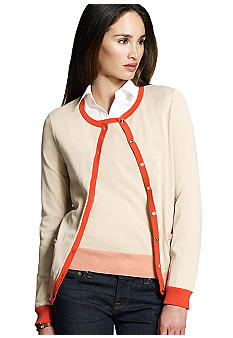 Jones New York Collection Long Sleeve Colorblock Cardigan