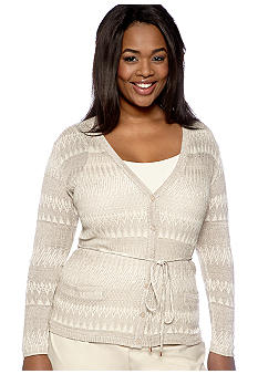 Jones New York Collection Plus Size Long Sleeve Cardigan