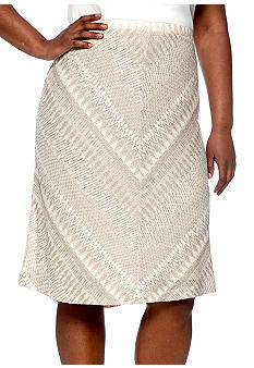 Jones New York Collection Plus Size A Line Skirt