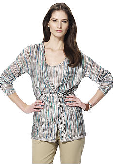 Jones New York Collection Petite Multi Yarn Cardigan