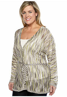 Jones New York Collection Plus Size Self Tie Cardigan