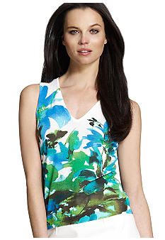 Jones New York Collection Printed Sleeveless Shell