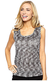 Jones New York Collection Sleeveless Knit Shell