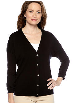 Jones New York Collection Long Sleeve V-Neck Cardigan
