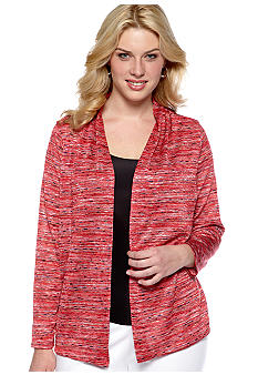 Jones New York Collection Plus Size Long Sleeve Open Front Cardigan