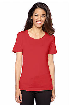 Jones New York Collection Petite Short Sleeve Knit Top