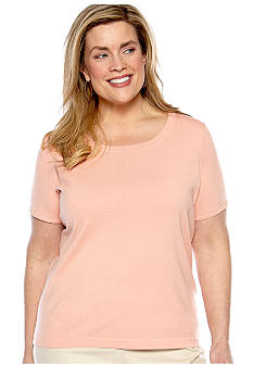 Jones New York Collection Plus Size Short Sleeve Knit Top