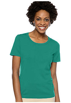 Jones New York Collection Plus Size Short Sleeve Scoop Neck Knit Top