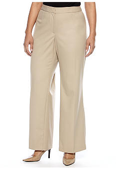 Jones New York Collection Plus Size Flat Font Pant