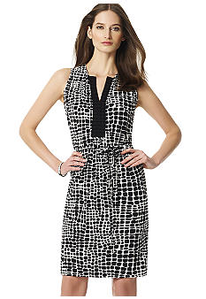 Jones New York Collection Mock Wrap Dress