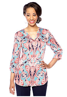 Jones New York Collection Paisley Print Blouse