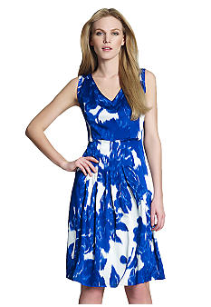 Jones New York Collection Sleeveless Dress With All Around Pleating
