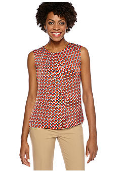 Jones New York Collection Printed Shell With Pleats