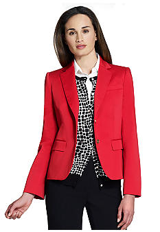Jones New York Collection Long Sleeve Two Button Blazer