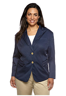 Jones New York Collection Plus Size Jacket With Pockets