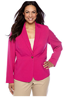 Jones New York Collection Plus Size Single Button Jacket