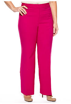 Jones New York Collection Plus Size Flat Front Pant