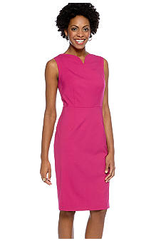 Jones New York Collection Petite Dress With Sweetheart Neckline