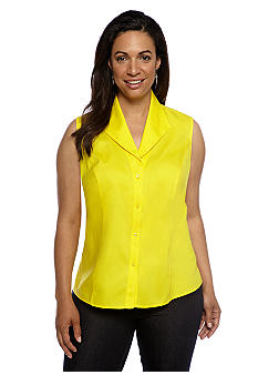 Jones New York Collection Plus Size Sleeveless Blouse