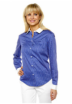 Jones New York Collection Long Sleeve Button Front Blouse