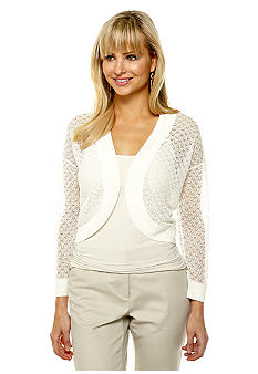 Jones New York Collection Long Dolman Sleeve Cardigan