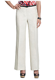 Jones New York Collection Linen Button Front Pant
