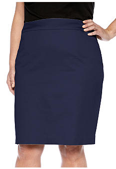 Jones New York Collection Plus Size Solid Slim Skirt