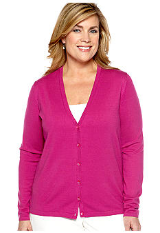 Jones New York Collection Plus Size Basic Cardigan