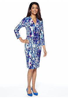 Jones New York Collection Petite Mock Wrap Dress