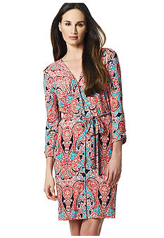 Jones New York Collection Faux Wrap Dress