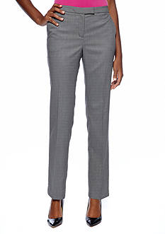 Jones New York Collection Sloane Birdseye Print Pant
