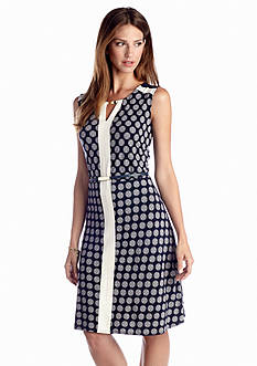 Jones New York Collection Colorblock Belted Dress
