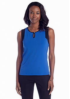 Jones New York Collection Sleeveless Colorblock Shell
