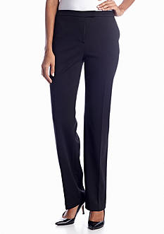 Jones New York Collection The Sydney Black Pant with Stretch