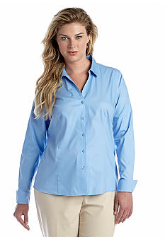 Jones New York Collection Plus Size Easy Care Solid Shirt