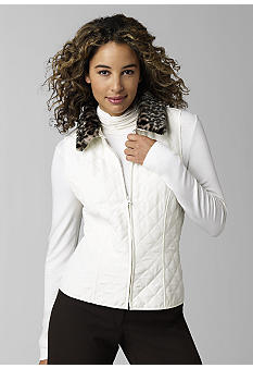Kim Rogers Signature®Animal Print Faux Fur Collar Quilt