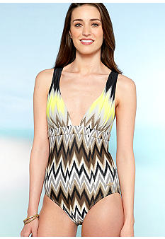 Vince Camuto Beverly Zig Zag One Piece Swim Suit
