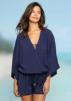 Vince Camuto Milot Solids Romper Cover Up