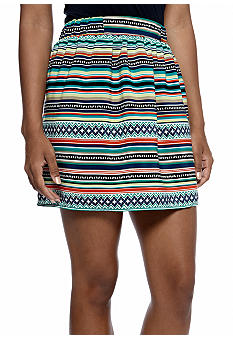 A Byer Tribal Print Skirt