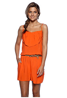 A Byer Romper with Braided Belt