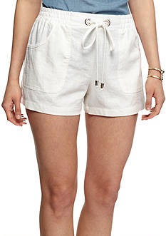 A. Byer Linen Shorts With Tie Waist