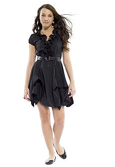 A Byer Ruffle Front Pickup Dress