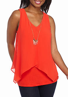A. Byer Sleeveless Necklace Knit Top
