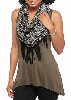 A. Byer Sleeveless Scarf Knit Top