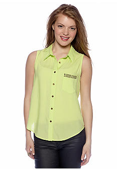 A Byer Sleeveless Shirt Open Back
