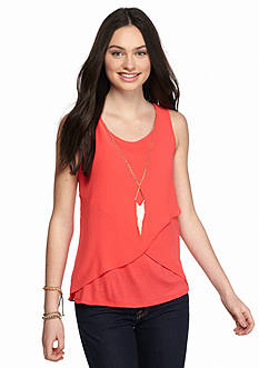 A. Byer Sleeveless Split Back Top
